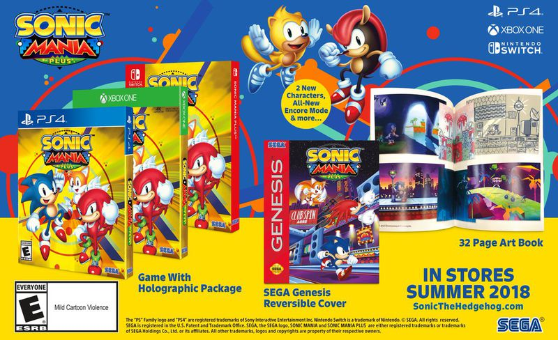 Sonic Mania Plus will have an art book, holographic color, and new features for the game.