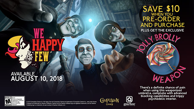 We Happy Few - Pre-order goodies and instant $10 savings 1