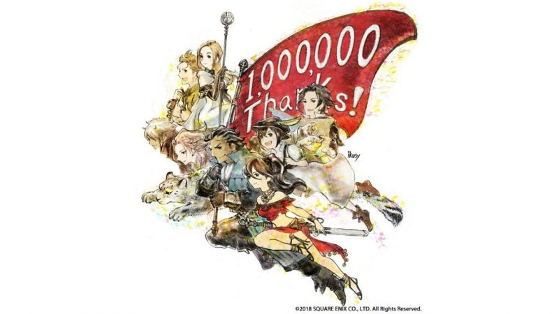 Octopath Traveler sells 1M copies; Thanks fans with banner art 2