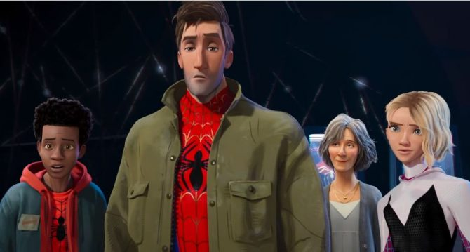 Insomniac Game's Spider-Man makes a cameo in Spider-Verse movie trailer 4