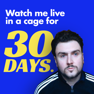 Twitch streamer Johnny_Now locks himself in a cage for 30 days 3