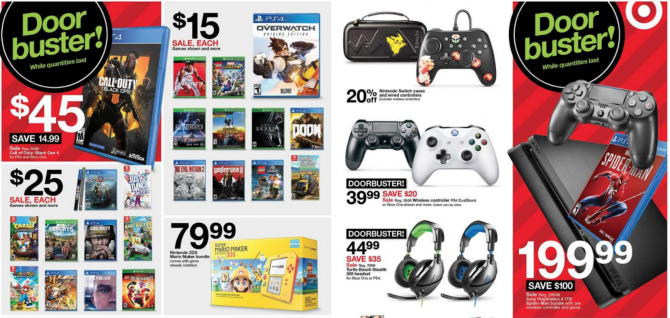 Target unveils Black Friday ad; Blacks Ops 4 for $45 1