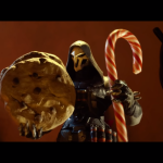 Overwatch's Reaper and Tracer fight over Santa's cookies in Cookiewatch