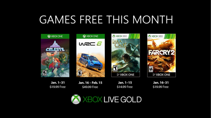 Xbox January 2019 Games with Gold (GWG) announced 4