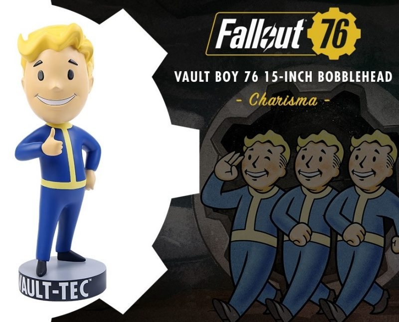 A giant 15'' Fallout 76 Vault Boy Bobblehead worth looting 3