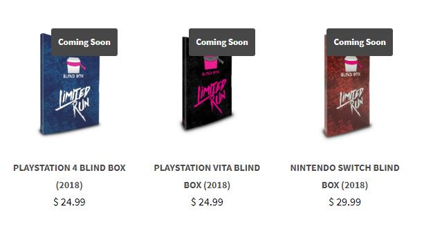 Limited Run Games 2018 Blowout Sale live now 1