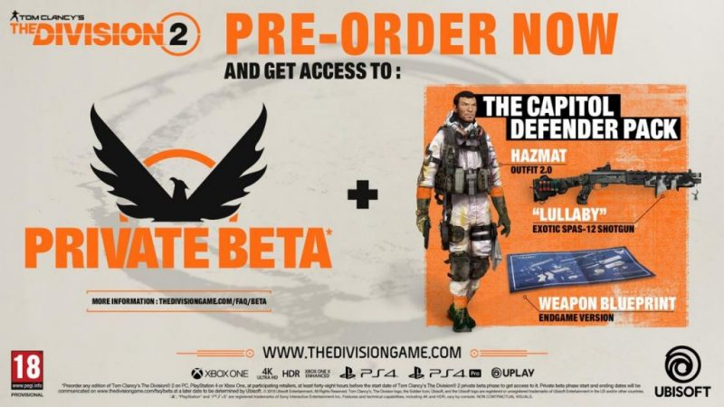 The Division 2 private beta February 7-10; Sign up even without a pre-order 3
