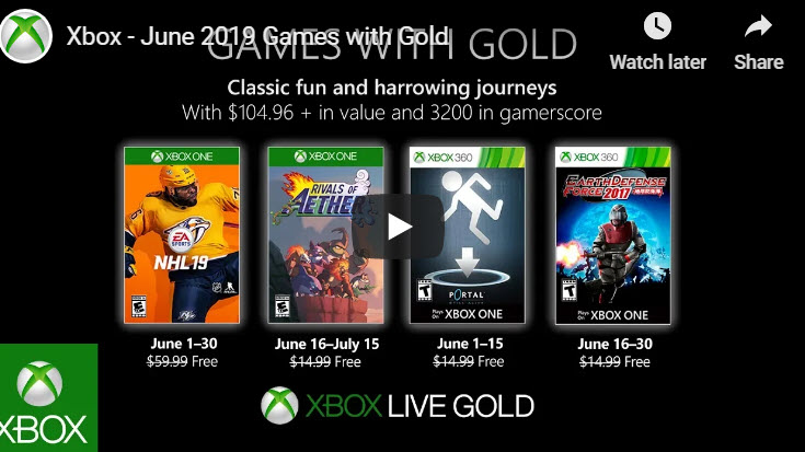 Xbox Games with Gold for June have been released.