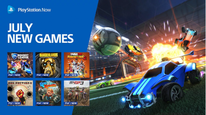 PS Now July's lineup includes Borderlands and Rocket League 3
