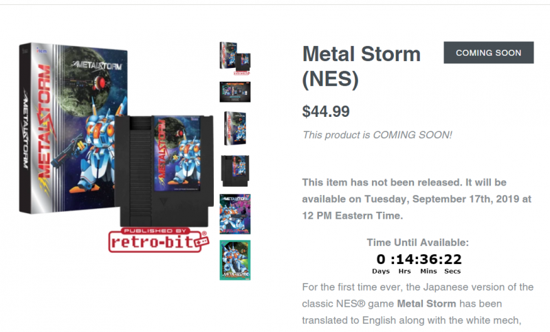 Metal Storm from Limited Run Games.