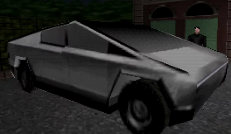 GoldenEye and Tesla's Cybertruk.