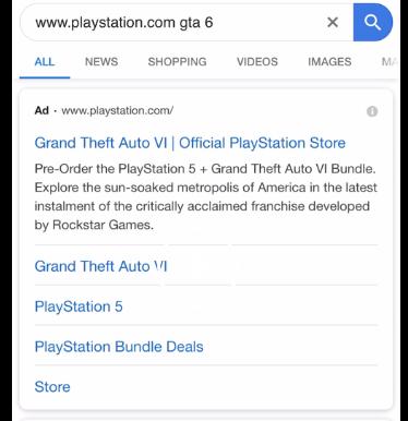 GTA 6 advertisement.
