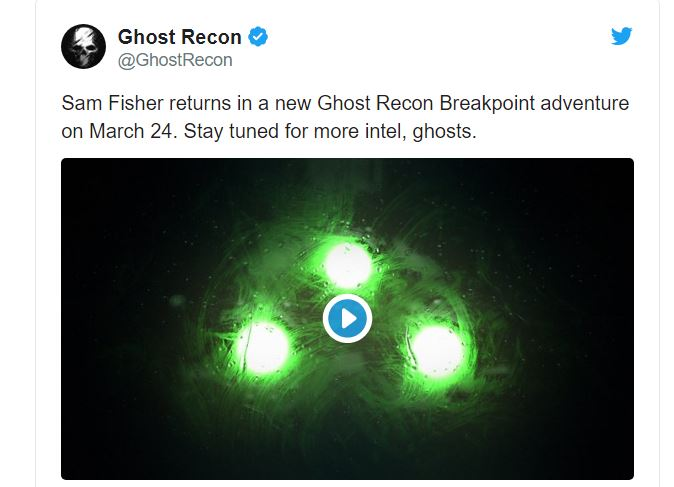 Sam Fisher returns in a new Ghost Recon Breakpoint adventure on March 24